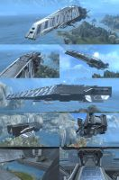 FORGE UNSC DESTROYER- IROQUOIS by D4RKST0RM99