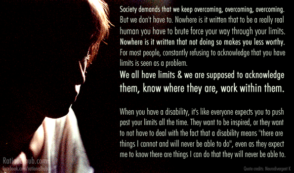 On overcoming disability.. by rationalhub