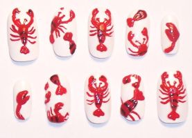 Custom Lobster Nails by The-Lady-of-Kuo