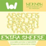 extra cheese font by weknow by weknow