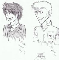 Mike Dirnt + Random Gerard Way by Reora56