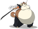 Fat Komamura ready to fight by HectortheWolf
