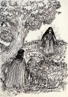 Beren and Luthien: the first meeting by natoth