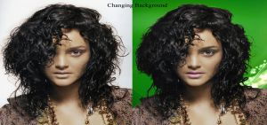 changing background by handfree
