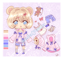 Adoptable Closed: sweet teddy by isabelFenix