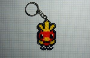 Torchic Mini Hama Keychain by inu-chan-free