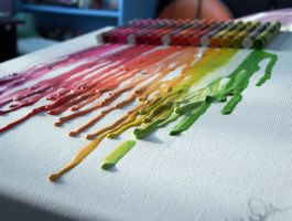 Melted Crayons by Crystal2Blue