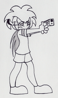Louis With A Badly Drawn Gun by PuccaFanGirl