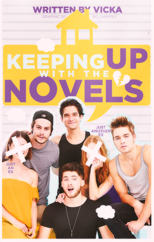 Book Cover 035 - Keeping Up With The Novels by sohappilyart