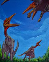 Quetzalcoatlus Trio by Heatherbeast