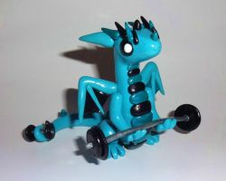 Weight LIfting Dragon by ByToothAndClaw