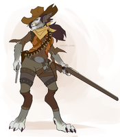 Worgen Gunslinger by PuddingPack