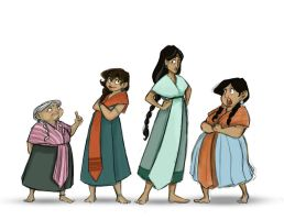 Memoria- Female Character line up by christy-mac