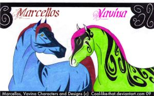 Marcellos and Vavina by Willow-Tree-Stables