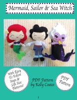 PDF Mermaid, Sailor and Sea Witch PDF Pattern by ultimateduofan
