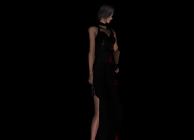 Ada Black Dress Model by a-m-b-e-r-w-o-l-f