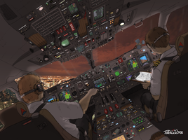 Take off view from cockpit by Pabluche