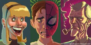 More iphone spidey-doodles by Cowboy-Lucas