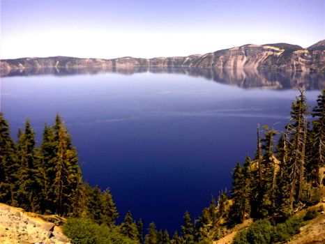 Crater Lake 1 by PEACEofMINDforME