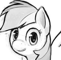 Rainbow Dash Sketch by Inkwel-MLP