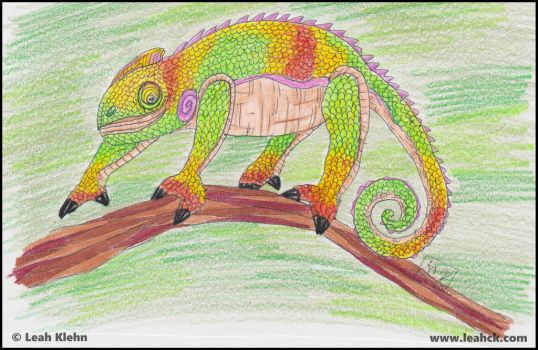 Crazy Chameleon by LeahCK