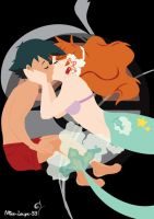 Pokemon Ash x Misty ~ kiss underwater by miss-lollyx-33
