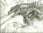 Godzilla Pencil by Chongo-zilla
