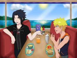 Sasuke and Naruto - Hanging Out by EmUchiha
