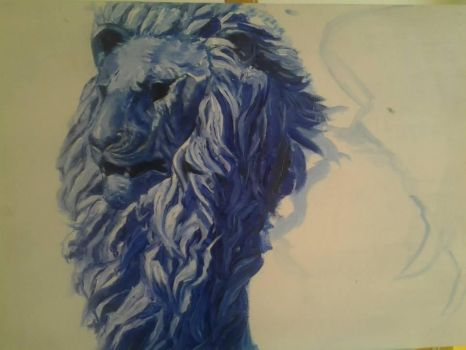 blue lion by MissAcacia93