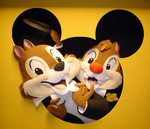 Chip n' Dale by paperfetish