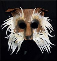 Stylized Fox Terrier Leather Mask by Jedi-With-Wings