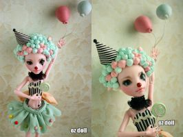Custom monster high doll holloween clown cute~ by OzDoll