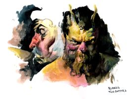 Two Satyrs by i-am-mighty