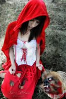 dark red riding hood II by caperuccita