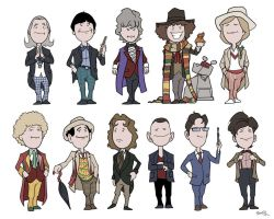 Doctor Who - Cute Doctors by thecommonwombat