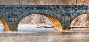Le pont de Chenecey Buillon by lawra