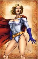 Power Girl inks - Colored by LadyOrange