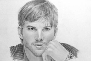 Ashton Kutcher by joniwagnerart