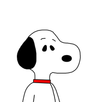 Snoopy with a red collar by SuperMarcosLucky96