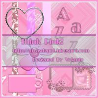 Think Pink Scrapkit by FullMoonArtists