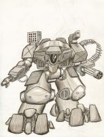 Mechs' on a plane by sirdubdub
