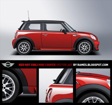 Red Hot Chili Mini Cooper by rames