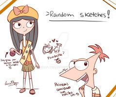 Phineas and Isabella sketch~ by LanaFlynn