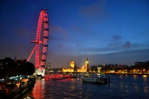 Westminister and london eye by DesuDan
