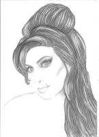 amy winehouse pencil drawing by charissa1996