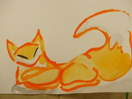 Reclining Fox by Aneirin-Aryon