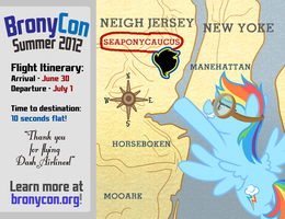 BronyCon Summer 2012 Postcard by purpletinker