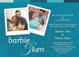 Ken and Barbie Wedding Invitations by ipholio