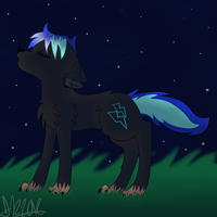 Nightlight Wolf by furqueen