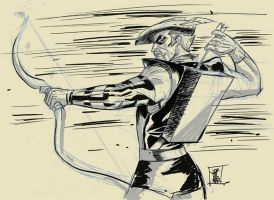 Green Arrow Digital Sketch by hyperjack08